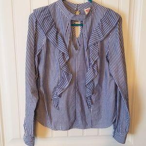 Womens ruffle blouse